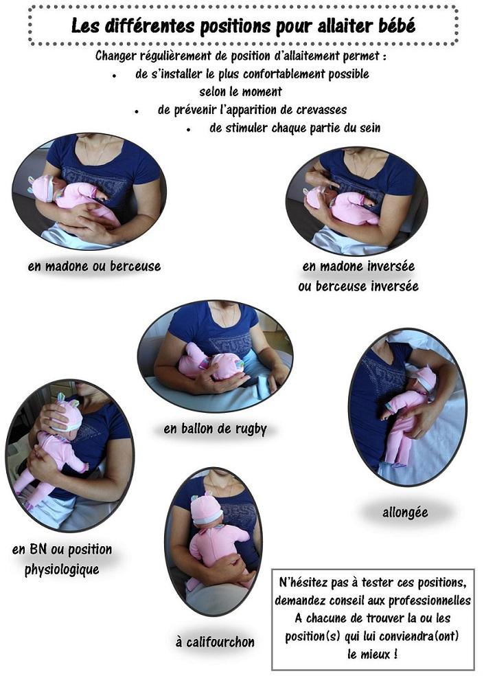 fiche positions allaitement