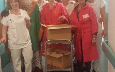 Saint Nicolas rend visite aux patients du Pôle Santé la Ligne Bleue à Epinal